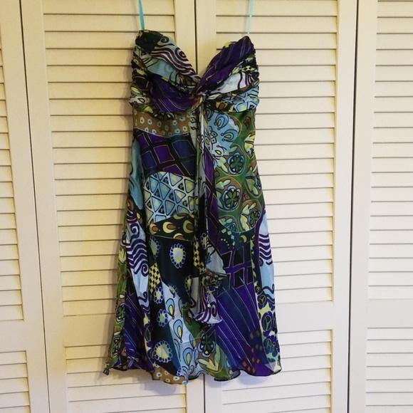Cache Dresses & Skirts - cache silk strapless dress size 4